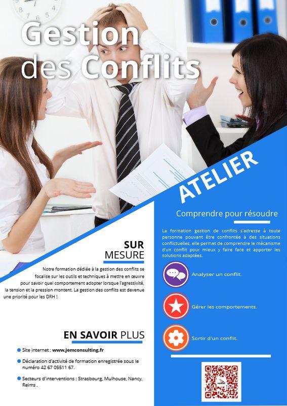 Affiche atelier gestion de conflits
