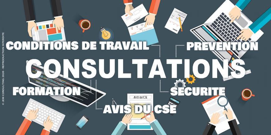 Consultations du CSE