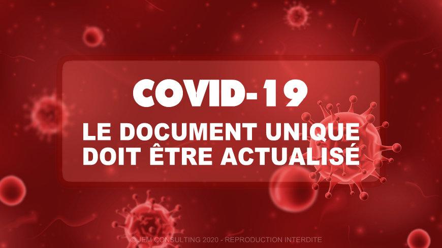 Référent covid - Actualisation du Document Unique