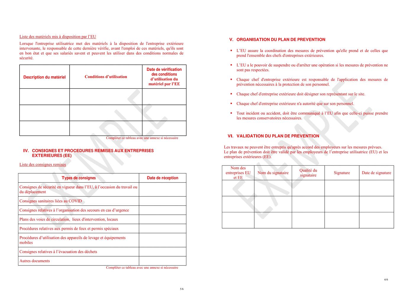 Exemple de plan de prévention 3