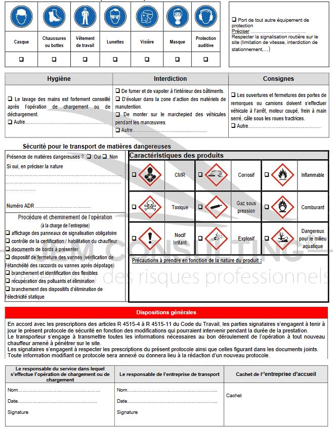 Exemple de protocole de sécurité n°2