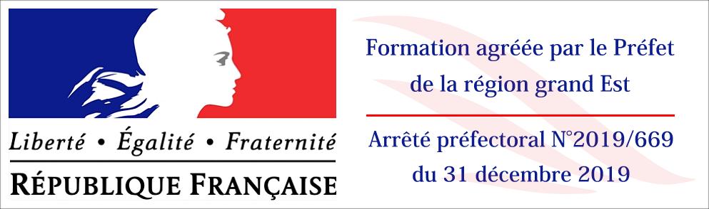 Formation agréée - Arrêté préfectoral 2019/669