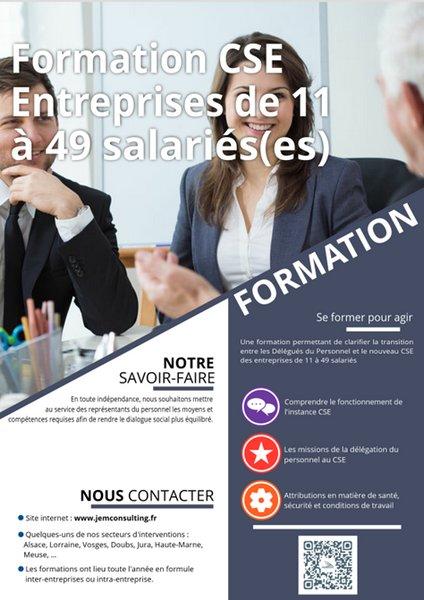 Formation CSE de 11 à 49 salariés
