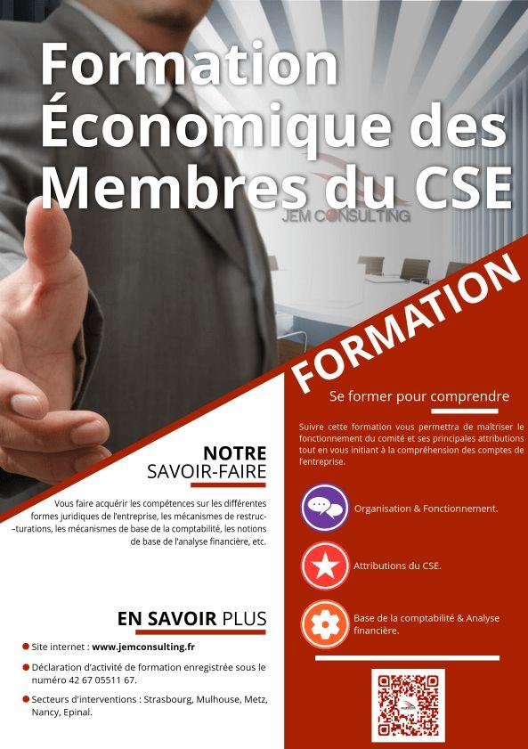 Formation économioque des membres du CSE