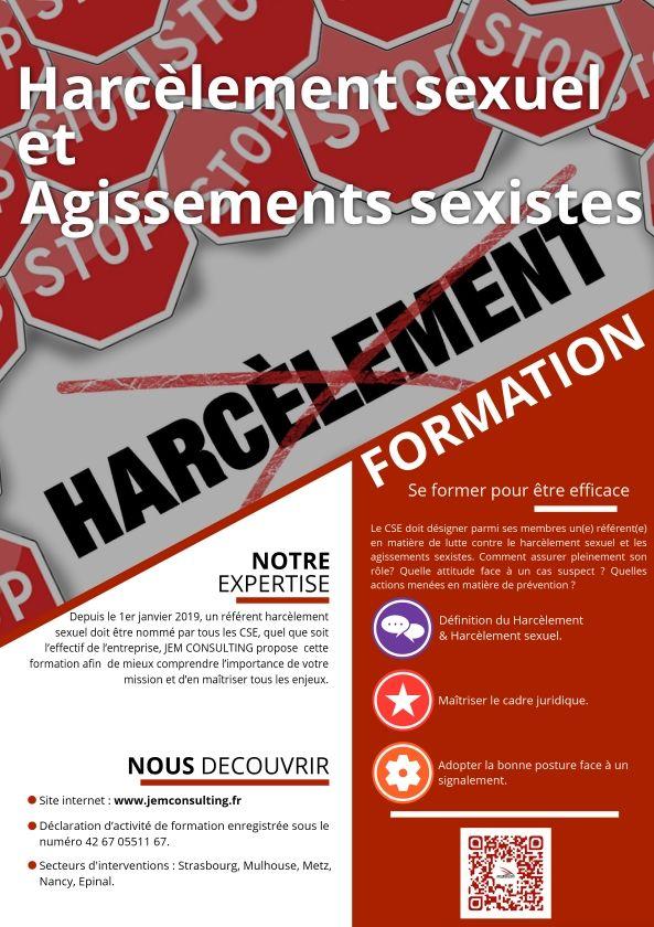 Formation harcèlement sexuel et propos sexistes