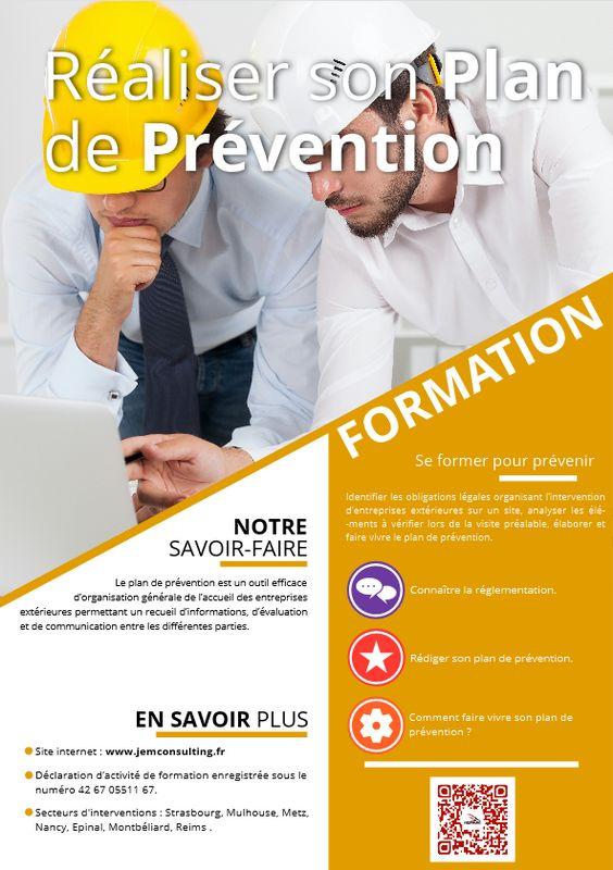 Formation Plan de prévention