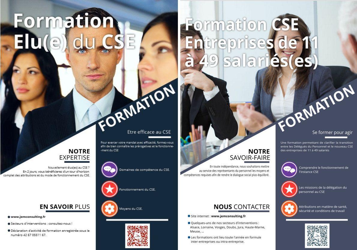 Formations CSE proposées