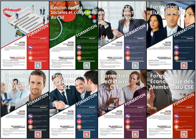 Quelques-unes des formations proposées par Jem Consulting