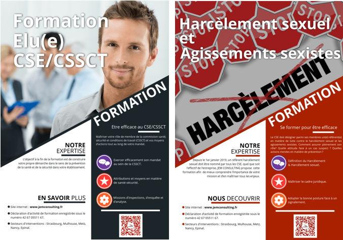 2 formations sont proposées dans le cadre du harcèlement au travail