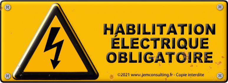 Habilitation électrique B0 - H0V