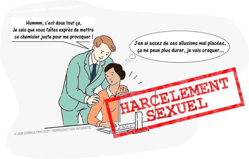 Harcèlement sexuel sur une salariée