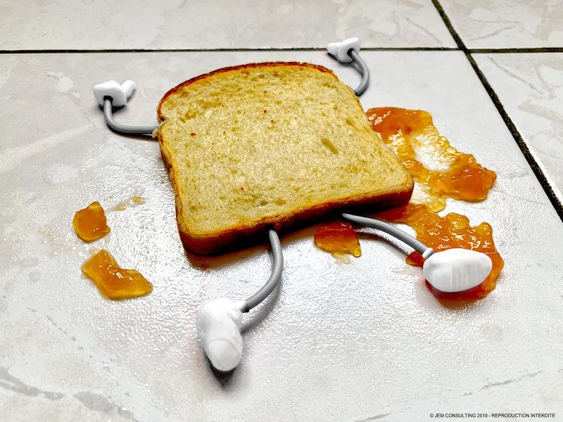 La loi de Murphy selon ma tartine grillée à l'abricot