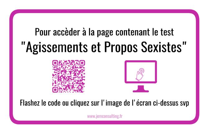 Accèder à la page du test Agissements et Propos sexistes