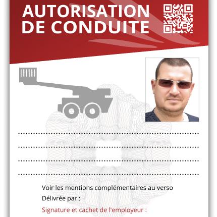 autorisation de conduite