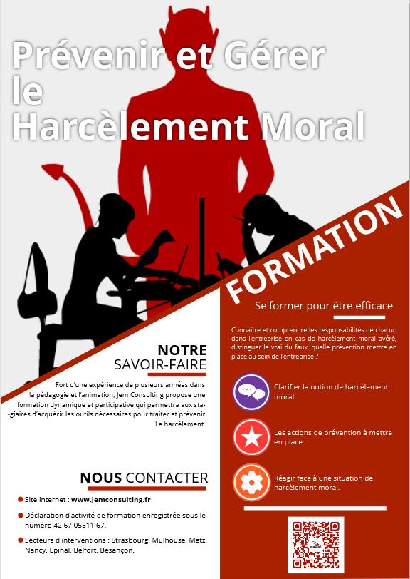 Prévenir gérer harcèlement moral